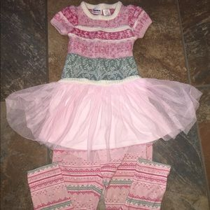 Little Girls Sweater & Leggings Outfit